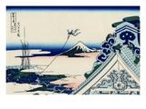 Honganji Temple At Asakusa In The Eastern Capital Giclée-Druck von Katsushika Hokusai