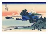 Shichiri Beach in Sagami Giclée-tryk af Katsushika Hokusai