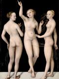 The Three Graces Photographic Print by Lucas Cranach the Elder