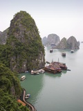 Boats in Halong Bay in Vietnam Photographic Print by José Fuste Raga