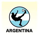 Argentina Soccer Impressão giclée