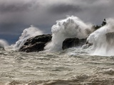 Fierce Lake Superior Waves Pound Minnesota's North Shore Photographic Print by Layne Kennedy