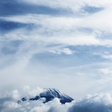 Mount Fuji with Clouds Photographic Print by Micha Pawlitzki