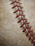 Close-up of worn baseball surface Photographic Print by Sung-Il Kim