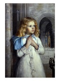 Her First Sermon Giclee Print by William Holman Hunt
