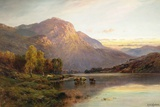 A View of Loch Lomond near Inversnaid, Scotland Gicléetryck av Alfred Fontville de Breanski
