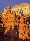 Rock formations in Goblin Valley State Park Photographic Print by Scott T. Smith