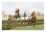 The Hunt Gicléedruk van George Derville Rowlandson