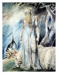 Moses and the Burning Bush Lámina giclée por William Blake