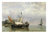 Fishermen near Rotterdam, Holland Giclee Print by Hermanus Koekkoek