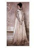 Symphony in Flesh Color and Pink: Portrait of Mrs. Frances Leyland Reproduction procédé giclée par James Abbott McNeill Whistler