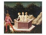 Diana and Actaeon Giclée-tryk af Domenico Veneziano