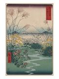 Otsuki Fields in Kai Province Giclée-tryk af Ando Hiroshige