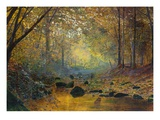 On the River Greta, Lake District, England Giclee Print by John Atkinson Grimshaw