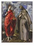 Saint John the Evangelist and Saint Francis Lámina giclée por  El Greco