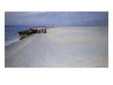 Fishermen on the Beach at Skagen, Denmark Giclee Print by Peder Severin Kröyer