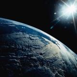 Earth Seen from Space Shuttle Discovery Fotografisk trykk av  Bettmann