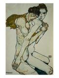 Venskab Giclée-tryk af Egon Schiele