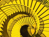 View from Above of Spiral Staircase Photographic Print by Reed Kaestner