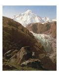 The Gorner Glacier and Zermatt Valley, Switzerland Giclee Print by Francois Roffiaen