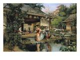 The Japanese Tea House Giclée-Druck von Harry Humphrey Moore