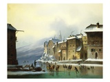 Skating Through the Town Giclée-Druck von Anton Doll