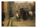 Napoleon After Waterloo Giclée-tryk af Robert Alexander Hillingford