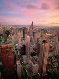 Downtown Chicago Fotografie-Druck von José Fuste Raga