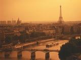 Paris and Eiffel Tower Fotoprint van Tibor Bognár