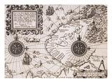 Karte von Nova Zembla from Diarium Nauticum, seu vera descriptio trium navigationum admirandarum Giclée-Druck von Gerrit de Veer