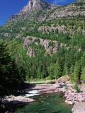 River Flowing Below Mountains Photographic Print by Neil Rabinowitz