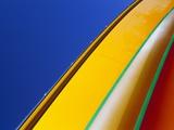 Brightly Colored Boat Exterior Fotografie-Druck von Onne van der Wal