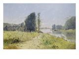 The Banks of the Yonne River, France Giclée-Druck von Victor Viollet-Le-Duc