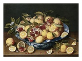 Still Life of Lemons, Oranges, and Pomegranates Lámina giclée por Jacob van Hulsdonck