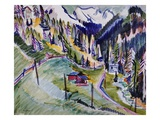 Mountain Landscape Giclee Print by Ernst Ludwig Kirchner