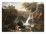 Cascade at Tivoli, Italy Giclée-Druck von Claude Joseph Vernet
