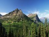 Glaciated Mountain Peaks Photographic Print by Neil Rabinowitz