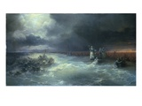 And Moses Stretched Forth His Hand over the Sea Giclee Print by Ivan Aivazovsky