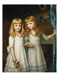 Marjory and Lettice Wormald Giclee Print by Arthur Hughes