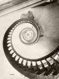 St. Louis Hotel's Winding Staircase Reproduction photographique par  Bettmann