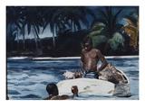 West Indian Divers Lámina giclée por Winslow Homer
