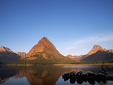 Glaciated Peaks Around Lake Photographic Print by Neil Rabinowitz