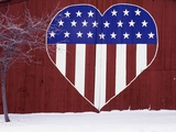 Heart-Shaped Stars and Stripes Fotografisk tryk af Terry Eggers