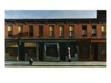 Temprana mañana dominical Lámina giclée por Edward Hopper