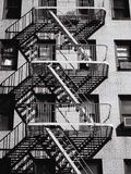 Fire Escape on Apartment Building Fotoprint van Henry Horenstein