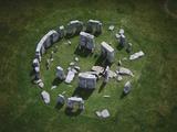 Aerial View of Stonehenge Fotografie-Druck von Jason Hawkes