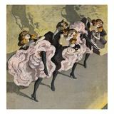 Four Girls Dancing Cancan Impressão giclée por  Bettmann