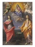 Madonna of the Snow with Saints Lucy and Mary Magdalen Giclee-trykk av Guido Reni