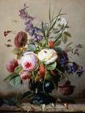 A Still Life of Summer Flowers Fotografisk tryk af Hans Hermann