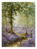 Skov med klokkehyacinter Giclée-tryk af Alfred Fontville de Breanski
